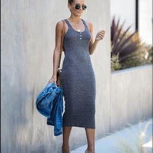 Vici Indian Summer Ribbed Knit Midi Dress
